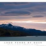 Lago Pehoe by dusk