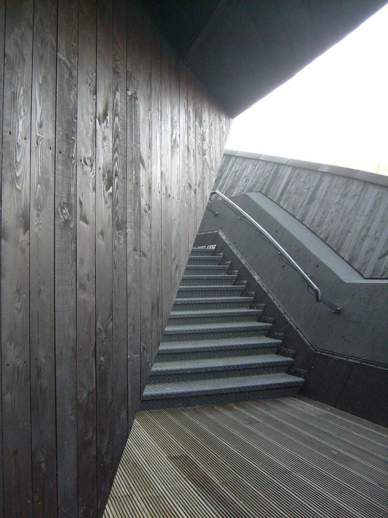 Schwarze Treppe (ThomasKohler) Tags: Black Architecture Modern Stairs  Facade Design Moderne Brett Architektur
