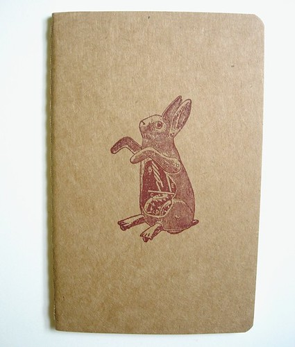 Clockwork Rabbit - Unlined Notebook