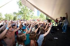 Coolooloosh @ Local 510 Stage on Prince's Island Park. Calgary Folk Music Festival 2010. (Calgary Folk Festival) Tags: music canada calgary festival photo audience crowd alberta calgaryfolkmusicfestival musicfestival cfmf 2010 princesislandpark coolooloosh july25 festivalgoer davidkenney