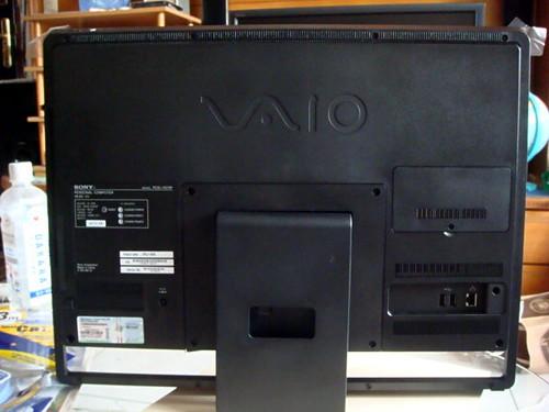 Vaio J118FWB 主機後側連接介面