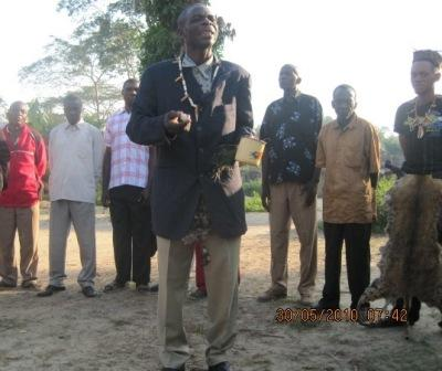 A chief speaks at Olangate