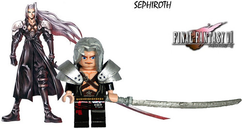 Final Fantasy VII Sephiroth Comparison