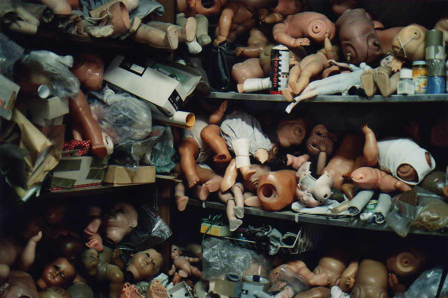 doll shop shelves