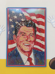 Ronald Reagan made out of Jelly Bellies