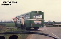 1062, YVL 836S, Bristol LH, ECW Body B43F, 1978 (t.1983) (Andy Reeve-Smith) Tags: lincolnshire roadcar ecw bristollh