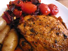 Sorta Spanish chicken with potatoes