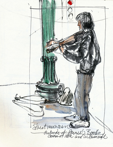Urban Sketchers symposium: musician