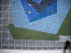 Cutting the fabric to fit odd shapes