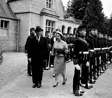 The Queen with President Eisenhower at Balmoral Castle