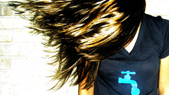 (Kat...B) Tags: nyc summer motion brick shirt hair shine flip faucet sweep cliche hairflip