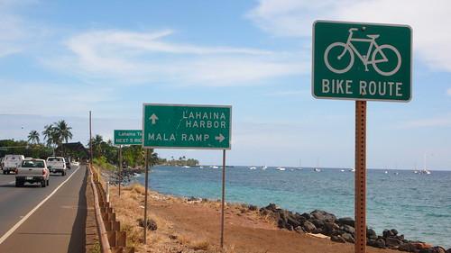 bike route lahaina