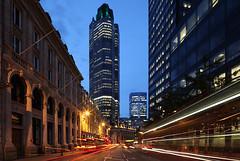 London Tower 42 (david.bank (www.david-bank.com)) Tags: uk light england london skyscraper canon lens skyscrapers traffic trails shift tilt tower42 tse cityoflondon 17mm