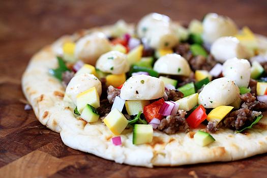 sausageflatbreadpizza