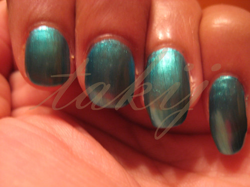 Sephora by OPI Mermaid to Order and Sally Hansen Lagoon Comparison
