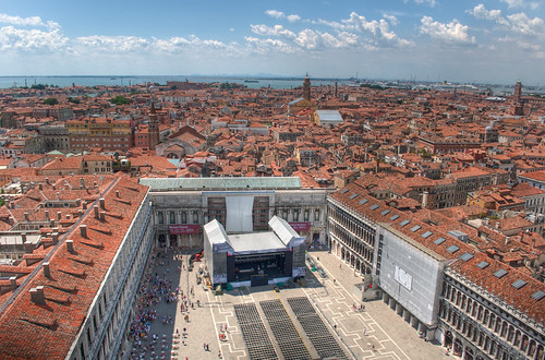 View from St Mark's Campanile, Venice