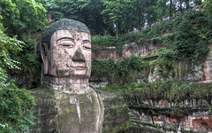 Leshan Giant Buddha (Sarmu) Tags: china wallpaper heritage monument statue architecture highresolution ancient buddha widescreen landmark icon carving historic unesco worldheritagesite 1600 highdefinition resolution historical 1200 hd wallpapers  leshan sichuan iconic hdr 1920 2010 ws dafo 1080 1050 720p  1080p   1680 720 2560  sichuanprovince leshanbuddha leshangiantbuddha sarmu