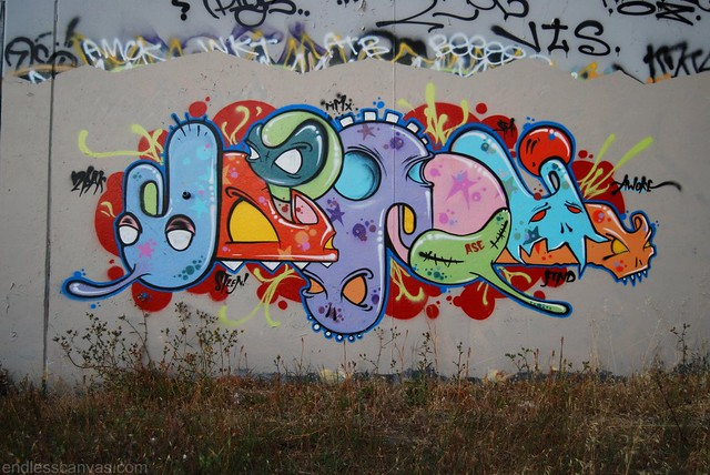 MASKA Graffiti Piece East Bay California.