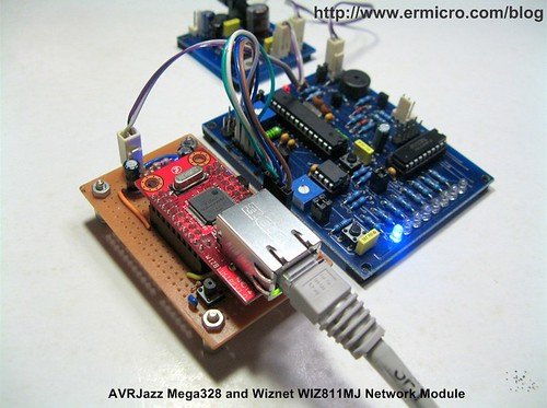 Integrating Wiznet W5100, WIZ811MJ network module with Atmel AVR Microcontroller