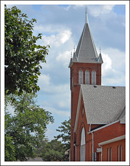 First Presbyterian in Saline (sjb4photos) Tags: church michigan steeple washtenawcounty salinemichigan