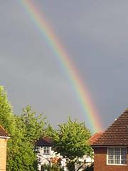 Rainbow (RachMoll) Tags: sky house colour weather rainbow august 2010 harrow