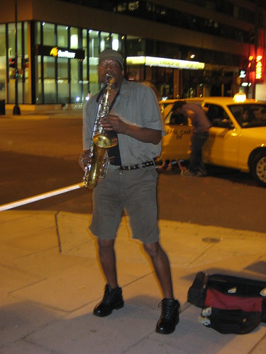 Saxophonist on 18th Street - Washington DC - August 2010