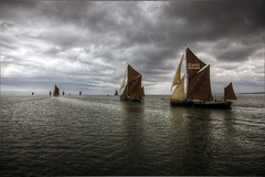 the match (stocks photography) Tags: sea water sailing stocks sail match riverthames whitstable hdr faversham hernebay swale thematch reculver thamesbarge thamesestuary xpilot bargematch whitstablebrewery stocksphotography shotstakenfromthexpilot