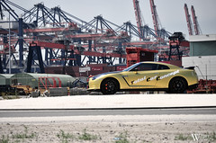 Nissan GT-R Switzer P800 (Bart Willemstein) Tags: auto terrain black cars car gold rotterdam nikon industrial nissan flat profile performance automotive mat vehicle tcc nikkor total sideview tuning p800 maasvlakte matte customs gtr switzer bartw d300s autogespot autogespotcom bartwillemsteinnl