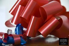 293/365 patriotic gift wrap (simis) Tags: wood blue light shadow red white ribbons bokeh 365 dailyphoto giftwrap day293 ehbd hbwe 365bokeh bokeh365