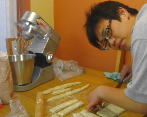 Eric Chong baking at home
