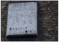 Richmonds Buildings (swanksalot) Tags: signs london buildings soho rebuilt 1916 1732 richmonds 18mm200mm swanksalot sethanderson richmondsbuildings