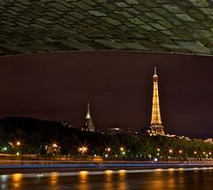 Tour Eiffel - Sous les ponts de Paris (David MONSU Photography) Tags: paris france night canon eiffeltower eiffel canon5d francia fleuve seineriver parisbynight f28l poselongue iloveparis canon2870