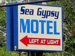 Sea Gypsy Motel Sign