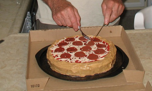 Pizza Cake in Box
