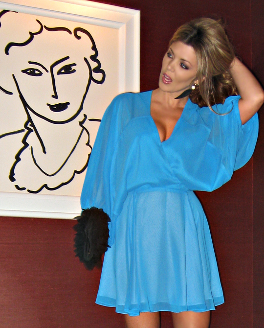 mara hoffman turquoise sheer mini dress -matisse-wynn vegas