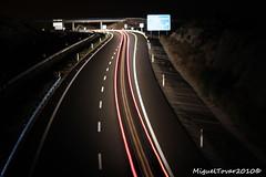 Viaje a la oscuridad. (Miguel Tovar Bazaga) Tags: light espaa black luz night dark noche quiet negro oscuridad extremadura migueltovar2010