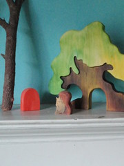 at squirrel's door (prettydreamer.workshop) Tags: wood forest woodland children toys squirrel waldorf puzzle homedecor playset pretend naturetable