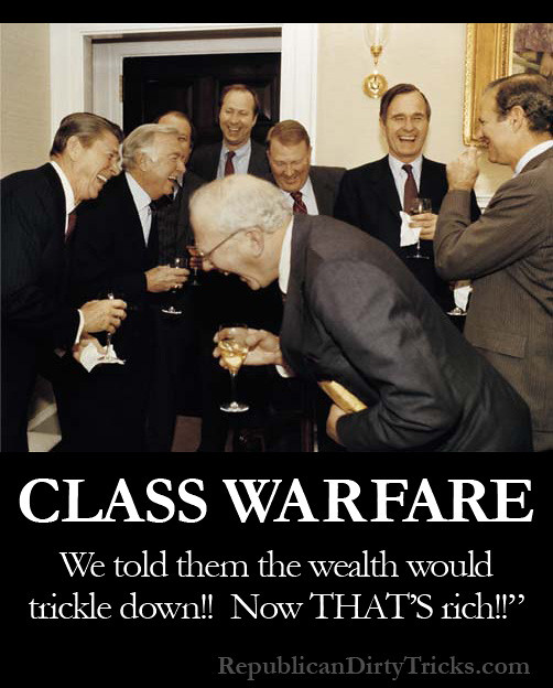 Reaganomics Class Warfare Trickle Down Image