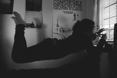 119 (AmeenaRojee) Tags: blackandwhite selfportrait levitation 365