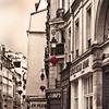 Rita Crane Photography: France / Paris / Le Marais / street / buildings / rooftops / chimneys / Rue du Temple, Marais District, Paris (Rita Crane Photography) Tags: blackandwhite paris france monochrome tag3 taggedout tag2 tag1 stock chinesenewyear lantern urbanlandscape whimsey selectivecolor stockphotography lemarais urbandetails ruedutemple ritacranephotography wwwritacranestudiocom medievalparis historicoldtowncenter traditionalmedievalhouses