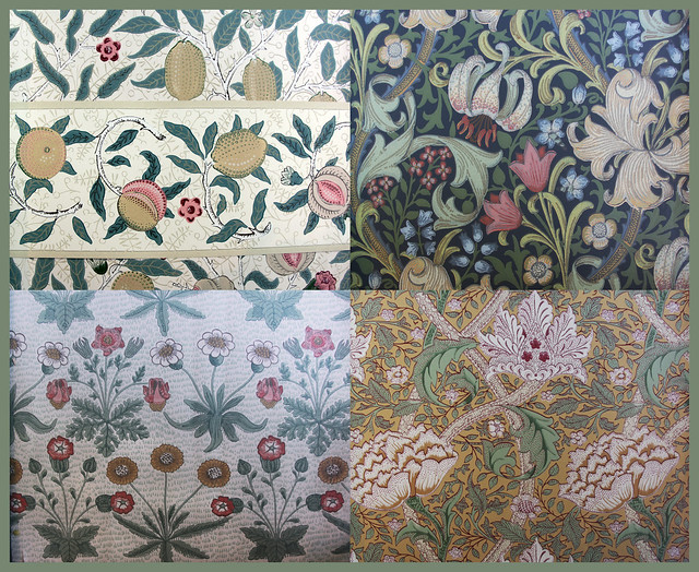 Wallpaper patterns by William Morris