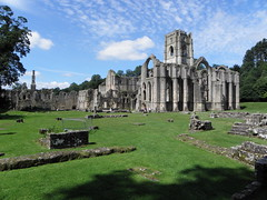 Fountains Abbey & Studley Royal Water Gardens - the abbey ruins from near the old infirmary (Tim Laughton) Tags: abbey ruins yorkshire royal national trust fountains studley fountainsabbeystudleyroyal