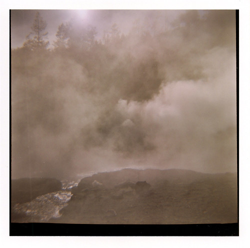Diana camera - 120 film - Yellowstone steam