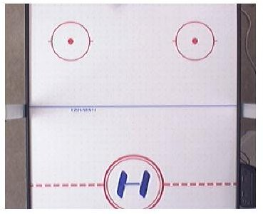 Air Hockey Table Top View Blue Table Air Hockey With Rinks And