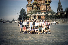 Group photo in front of St. Basil's