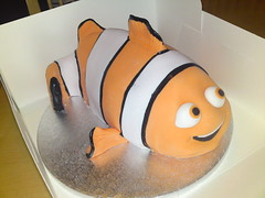 Nemo Cake (Bespoke Cake Lady) Tags: birthday orange white fish black cakes cake nemo shaped disney novelty pixar favourites sculpted