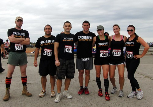 CrossFit Long Island City team before the Spartan Race