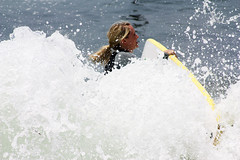 Surfing U.S.A (LaFeide) Tags: ocean life woman usa sport us losangeles surf surfer malibu