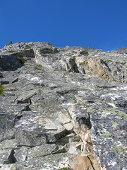 Looking up the buttress