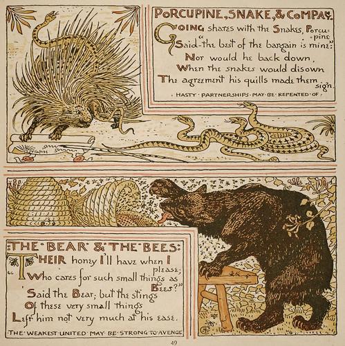 Herinaceus et Serpens; Ursus et Apes